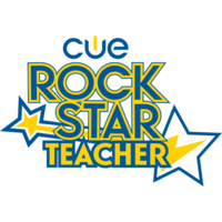 Medium cue rock star badge