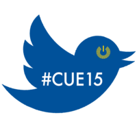 Medium cue conference tweeter badge