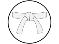Medium white belt