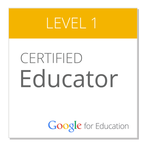 Image result for google educator level one certification badge