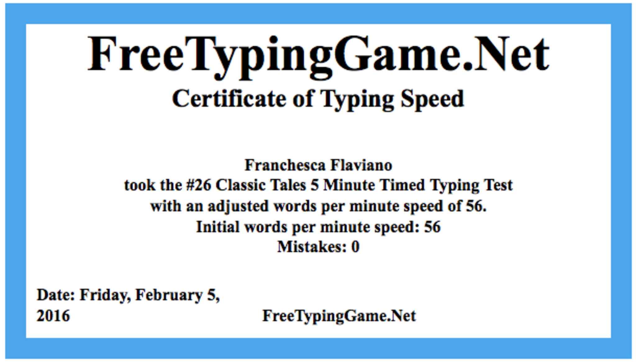 Franchesca Flaviano - Typing Advanced - Badge List