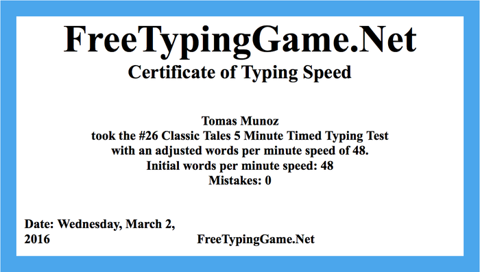 advanced typing test