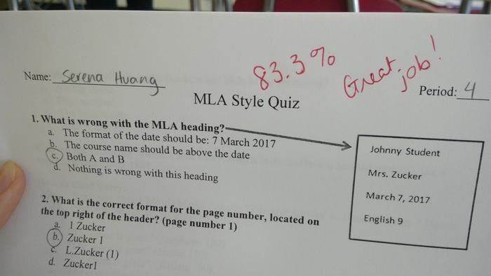 Mla Proficiency Mla Pro Northern Highlands English Language Arts