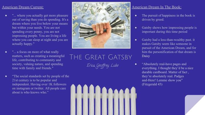 Preview great gatsby american dream