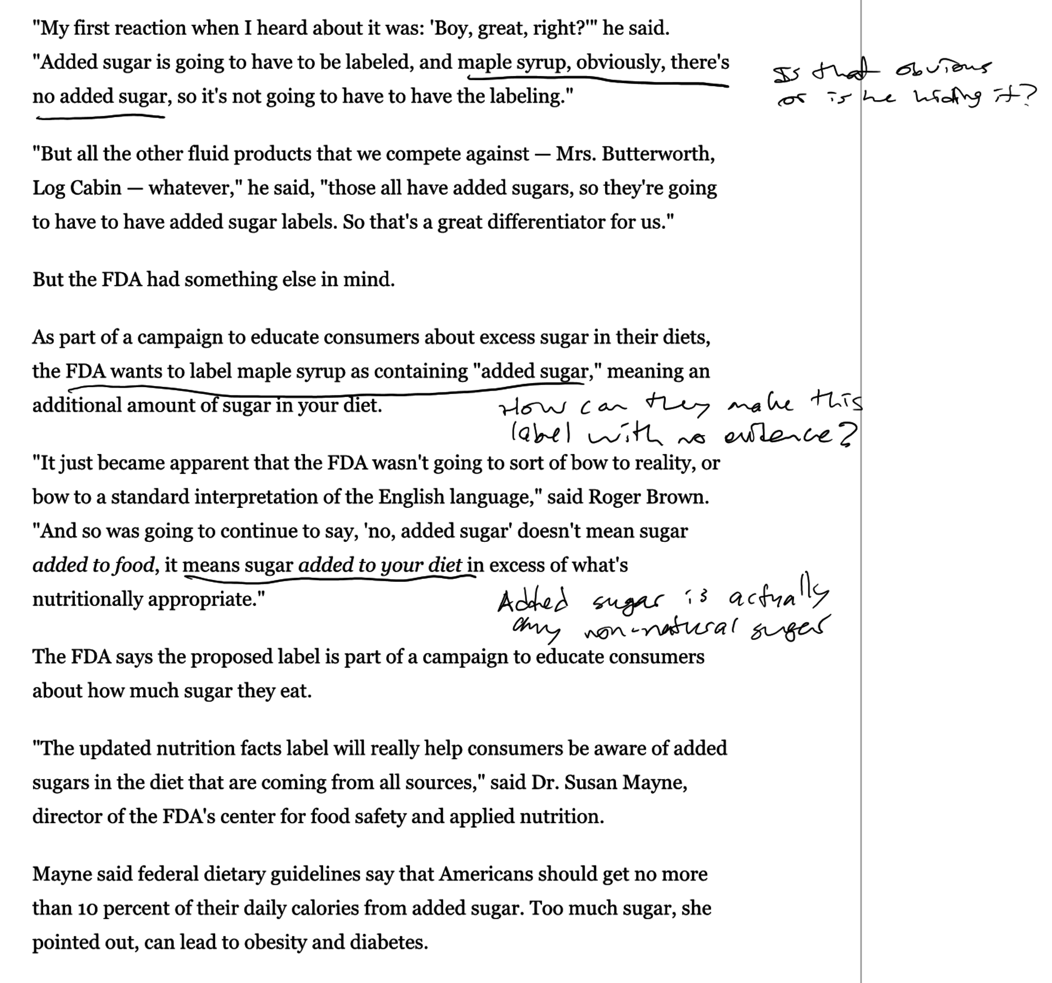 Full digital notes