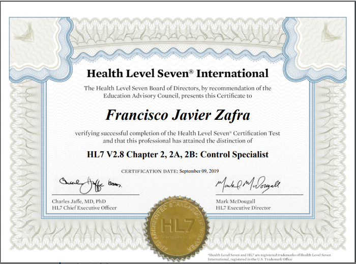 Preview hl7 control certification