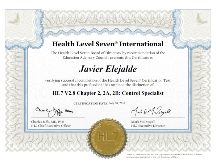Preview hl7 certificate evidence