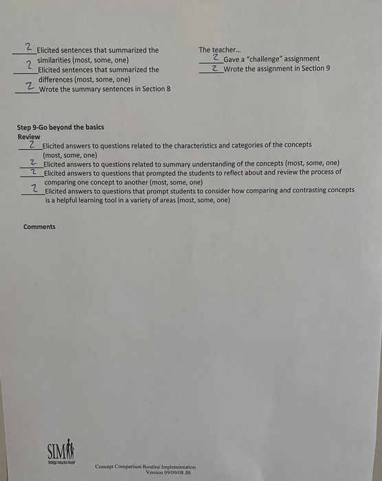 Preview implementation checklist page 2   mindset