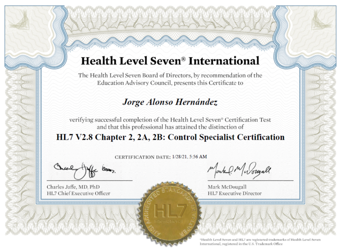 Preview hl7 certificacion