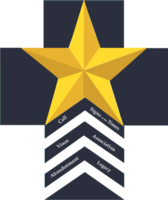 Medium star 20layered 20new