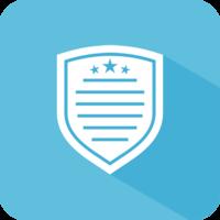Medium badge list icon blue