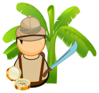 Medium jungle explorer vector clipart