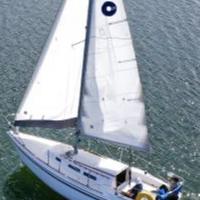 Medium sw under sail